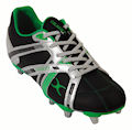 Gilbert Omega Rugby Boots  - Black - Silver - Green : Click for more info.