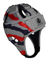 Impact Silver-Red-Black Streak Headguard : Click for more info.
