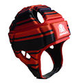 IMPACT Red-Black Broken Stripe Headguard : Click for more info.