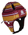 IMPACT Maroon-Gold-White Broken Stripe Headguard : Click for more info.